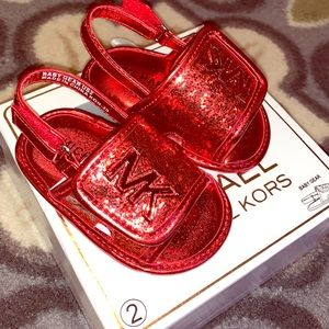 Michael Kors Red Baby Sandals